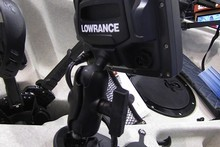 The new unit incorporates connections for Lowrance marine electronics.