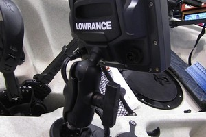 The new unit incorporates connections for Lowrance marine electronics. Photo / Supplied
