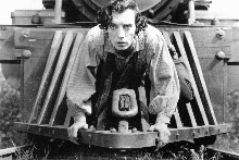 Buster Keaton deapans his way through The General - 'the greatest comedy ever made'. Photo / Supplied