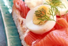 Smoked salmon, egg, capers and dill. Photo / Doug Sherring