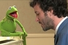 Bret McKenzie sings Life a Happy Song with Kermit the Frog. Picture / Supplied