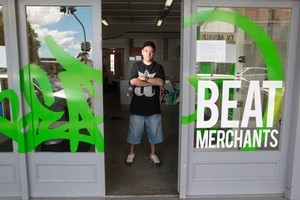 Jason Howson has closed his retail store and will sell music and art supplies via the internet. Photo / Richard Robinson
