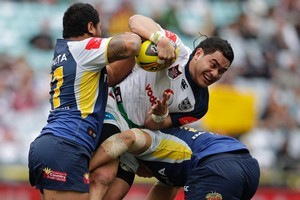Konrad Hurrell duringlast year's Toyota Cup Grand Final. Photo / Brett Phibbs