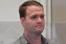 Bram van der Kolk, head programmer for Megaupload, in the dock at the North Shore District Court. Photo / Greg Bowker