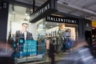 Clothing retailer Hallenstein Glasson says first half earnings were up a quarter from last year. Photo / NZ Herald