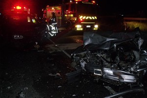 Family members in the other car were also injured in the crash at Awanui. Photo / Supplied