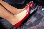 Flat shoes are best for driving, high heels are risky, and bare feet are inadvisable. Photo / Supplied