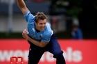 Auckland Aces left arm bowler Michael Bates. Photo / Sarah Ivey