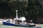 A 14m Navy launch, VIP, took on water after hitting rocks off Tutukaka this morning. Photo / Northern Advocate