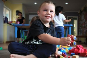 Three-year-old Cane Bradley's parents would be better off financially if they moved to Australia. Photo / Greg Bowker