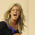 Rachel Hunter makes a break with the ball during the basketball session. Photo / Greg Bowker