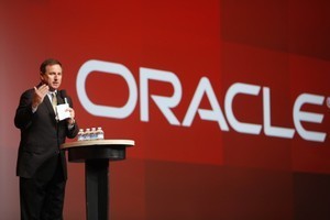 Oracle President Mark Hurd at the company's conference last year. Photo / AFP