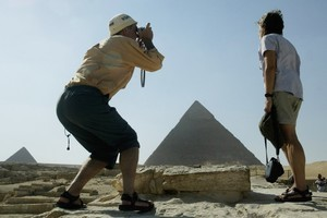Fewer tourists are visiting Egypt's awe-inspiring pyramids these days. Photo / Alan Gibson