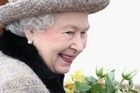 Queen Elizabeth II smiles as she leaves the Sunday Service at West Newton Church on February 5, 2012. Photo / AFP