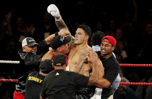 Sonny Bill Williams vs Clarence Tillman III Boxing fight at Claudelands Event Centre, Hamilton.