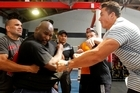 """Sonny Bill Williams says the weigh-in scuffle set off by Clarence Tillman was """"below the belt""""."""