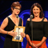 Rowers Phillippa Baker and Brenda Lawson receive their life time achievement award at the 2012 Halberg Awards. Photo / Greg Bowker