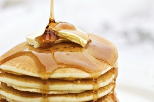 Instead of maple syrup try out vanilla syrup on your pancakes. Photo / Thinkstock