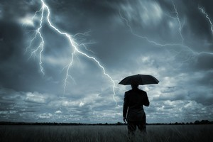 Heavy rain, lightning and thunderstorms are predicted for the last two weeks of summer. Photo / Thinkstock