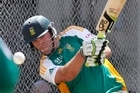 South Africa's ODI and T20 cricket captain A B De Villiers. Photo / Mark Mitchell