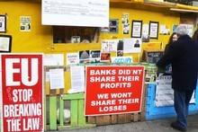 Occupy protesters in Dublin's Dame St. Photo / Chris Barton