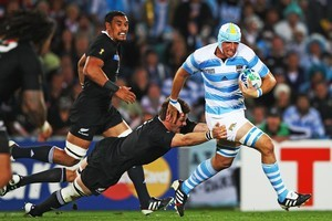Argentina did not play the All Blacks at all between the 2007 and 2011 World Cups - now they will meet twice a year. Photo / Getty Images