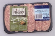 Heller's Free Farmed Country Pork Sausages. Photo / Supplied
