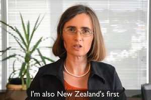Green MP Mojo Mathers - New Zealand's first deaf member of Parliament - in a video from the Green Party Aotearoa. Photo / Supplied