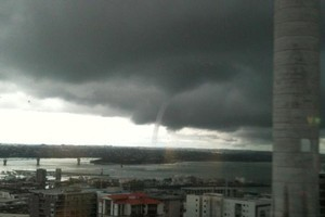 A waterspout was spotted by thousands of Aucklanders yesterday. Photo / Maggie Law