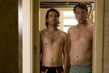 Bret McKenzie (left) and Hamish Blake in the black comedy Two Little Boys.