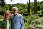 Christine and Tony Peek in the grounds of their beautiful country garden Woodbridge. Photo / Steven McNicholl