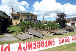 Karis Charnley's family home was left with smashed windows and a broken fence after a midnight attack. Photo / Janna Dixon