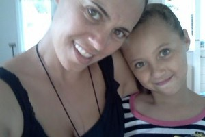 Cahla McKenzie and Tiana, 9. Photo / Supplied