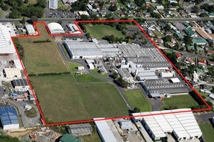 Fletcher Building's Laminex Group manufacturing site at Papakura. Picture / Supplied