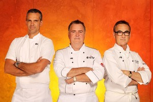Judges (from left) Josh Emett, Simon Gault and Ray McVinnie. Photo / Supplied