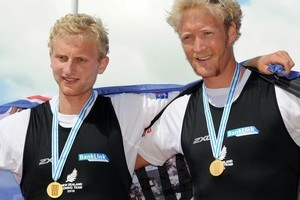 New Zealand's rowing pair Hamish Bond, left and Eric Murray. Photo / NZPA