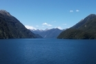 The view from the MS Volendam cruise ship as it tours Fiordland. Photo / Supplied