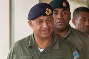 Fiji's military commander Commodore Frank Bainimarama visited NZ in 2006. File photo / Brett Phibbs