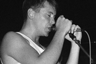 New Order's Bernard Sumner at Mainstreet Cabaret. Photo / Jonathan Ganley