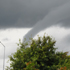 Jeff took this photo as the waterspout made its way over the East Coast Bays. Photo / Jeff O'Sullivan