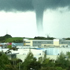Muhammad spotted the waterspout from Massey University in Albany. Photo / Muhammad Irvan