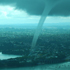 The large water funnel is seen over the Auckland gulf. Photo / David Simonaire