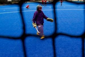 The new Hockey turf at Diocesan School, Epsom. Photo / Brett Phibbs