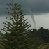 Tamati snapped this photo of the waterspout from Birkenhead looking towards the Sky Tower. Photo / Tamati Hawea