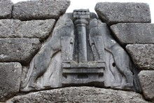 The lion gate at ancient Mycenae, Greece. Photo / Jim Eagles