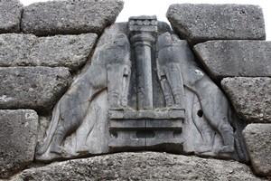 The lion gate at ancient Mycenae, Greece. Photo / Jim Eagles