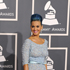 Katy Perry did a dye job to her coiffed hair, making it match her pretty powder blue gown. Photo / AP