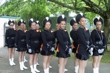 Marching girls in the Auckland Championships. Photo / Supplied