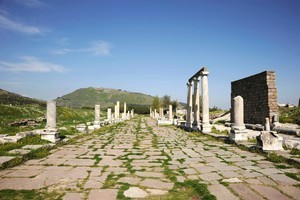 The 'high city' of Pergamon, south of Troy, has the remains of a superb temple and a theatre from the third century BC. Photo / Thinkstock