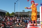 The gala opening of a new McDonald's restaurant and McCafe is sure to be greeted enthusiastically by youngsters. Photo / APN